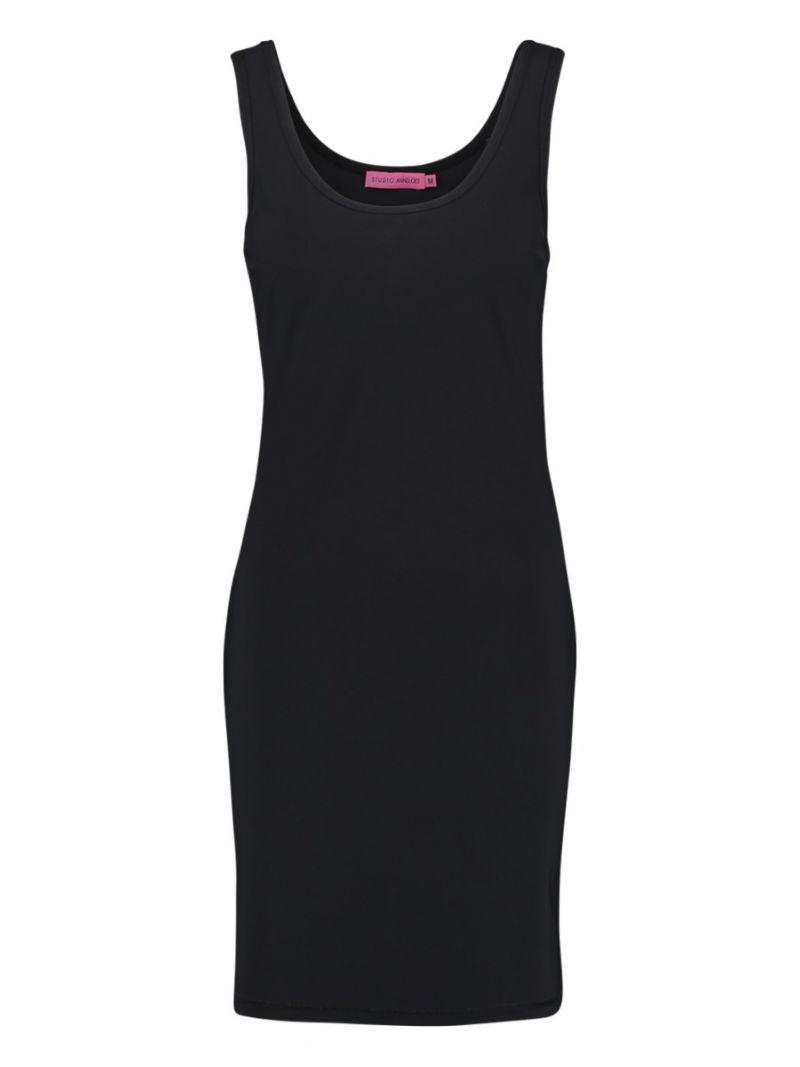 02155 Race Dress - Zwart