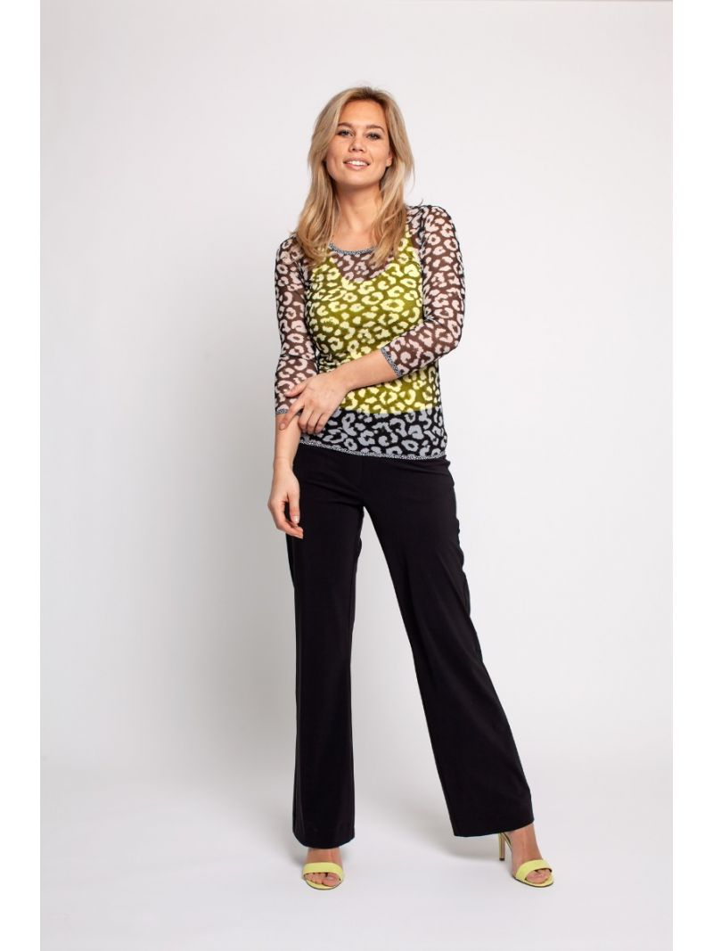 02309 Flair Bonded Trousers - Zwart