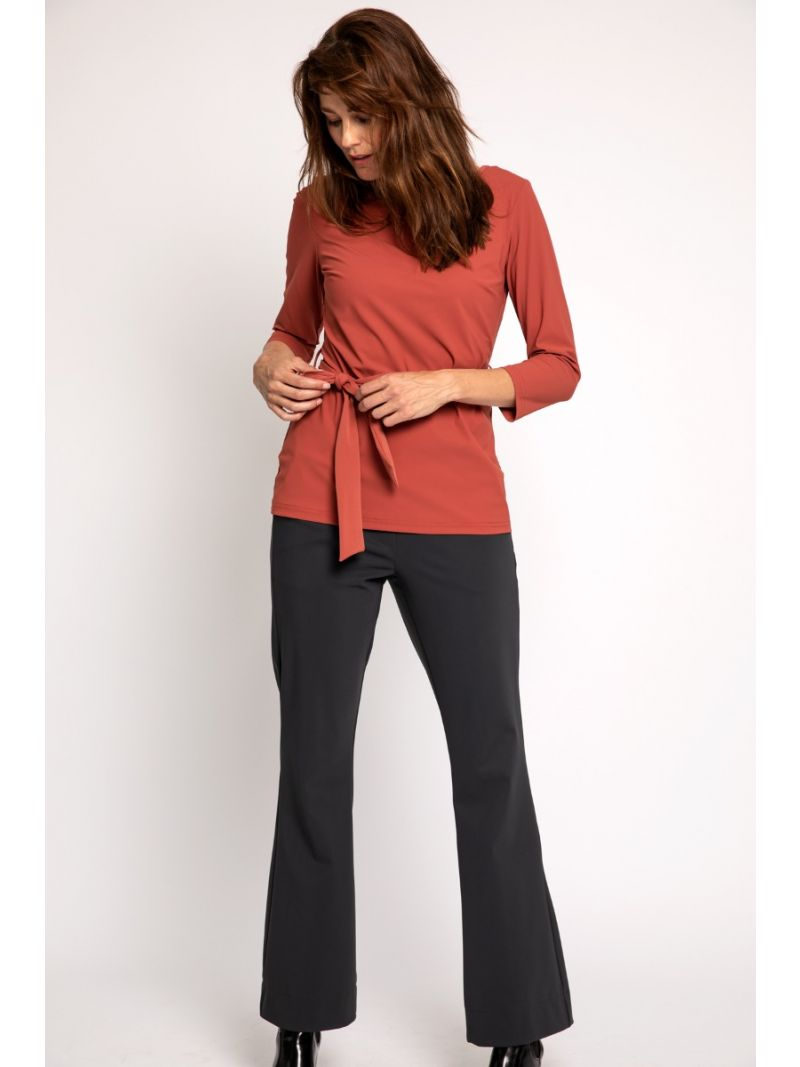 02309 Flair Bonded Trousers - Antraciet
