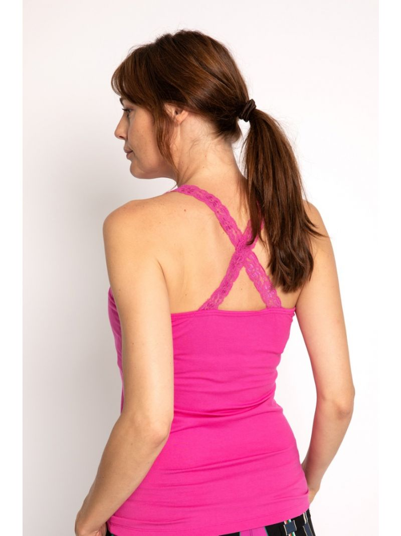 02711 Annabella Crossback Lace - Roze