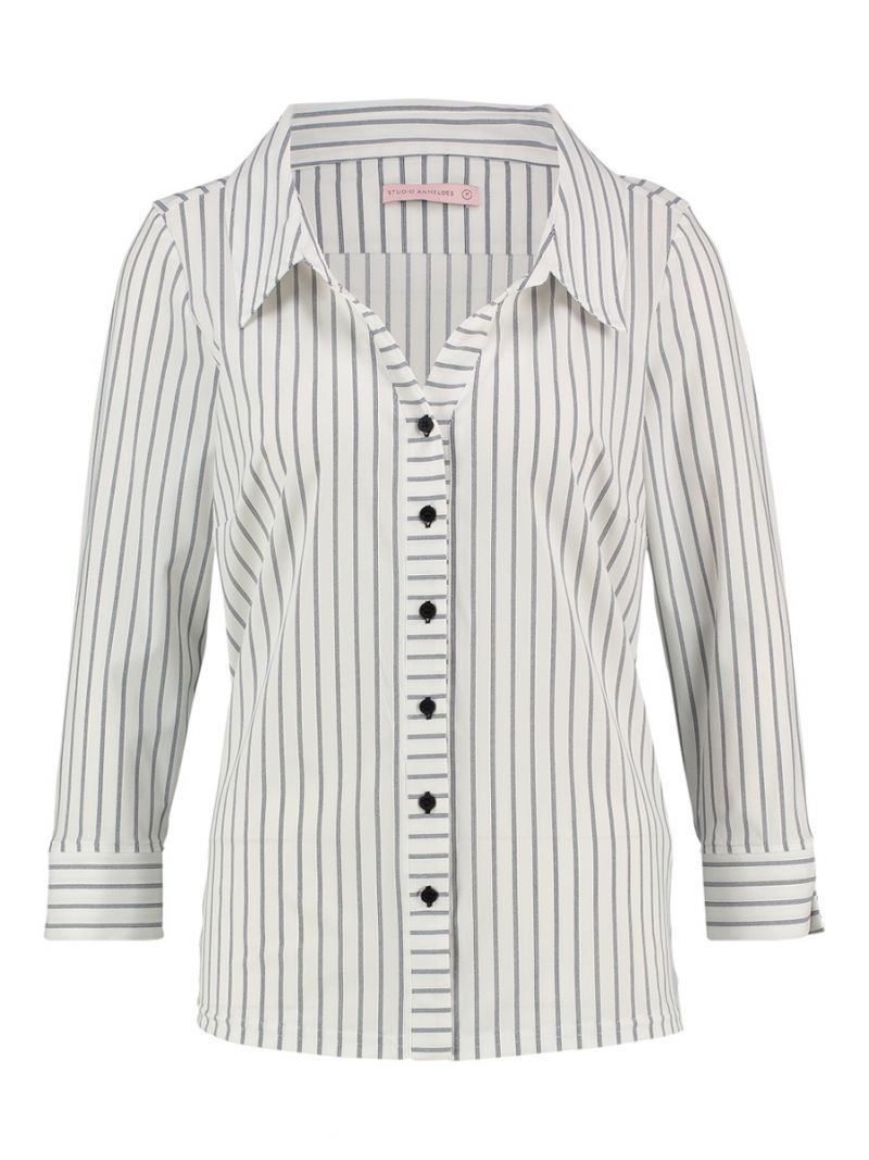 Travel Blouse wide collar