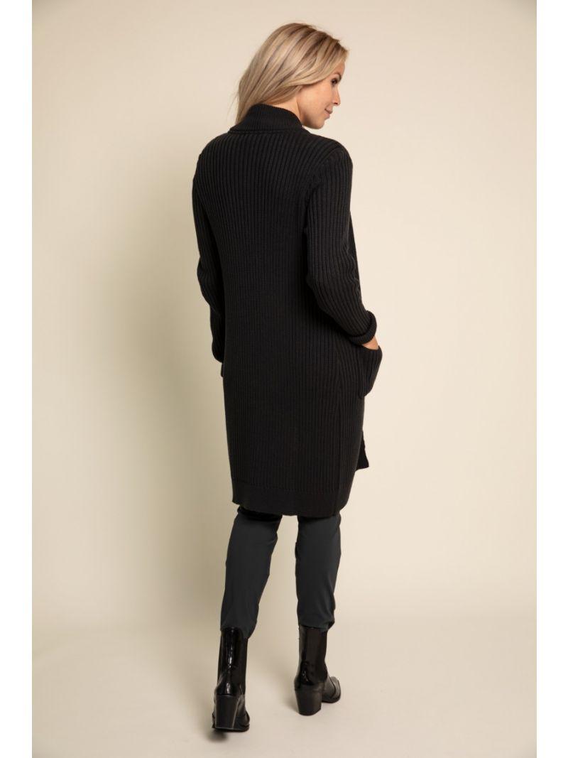 03400 Bari Cable Cardigan - Zwart