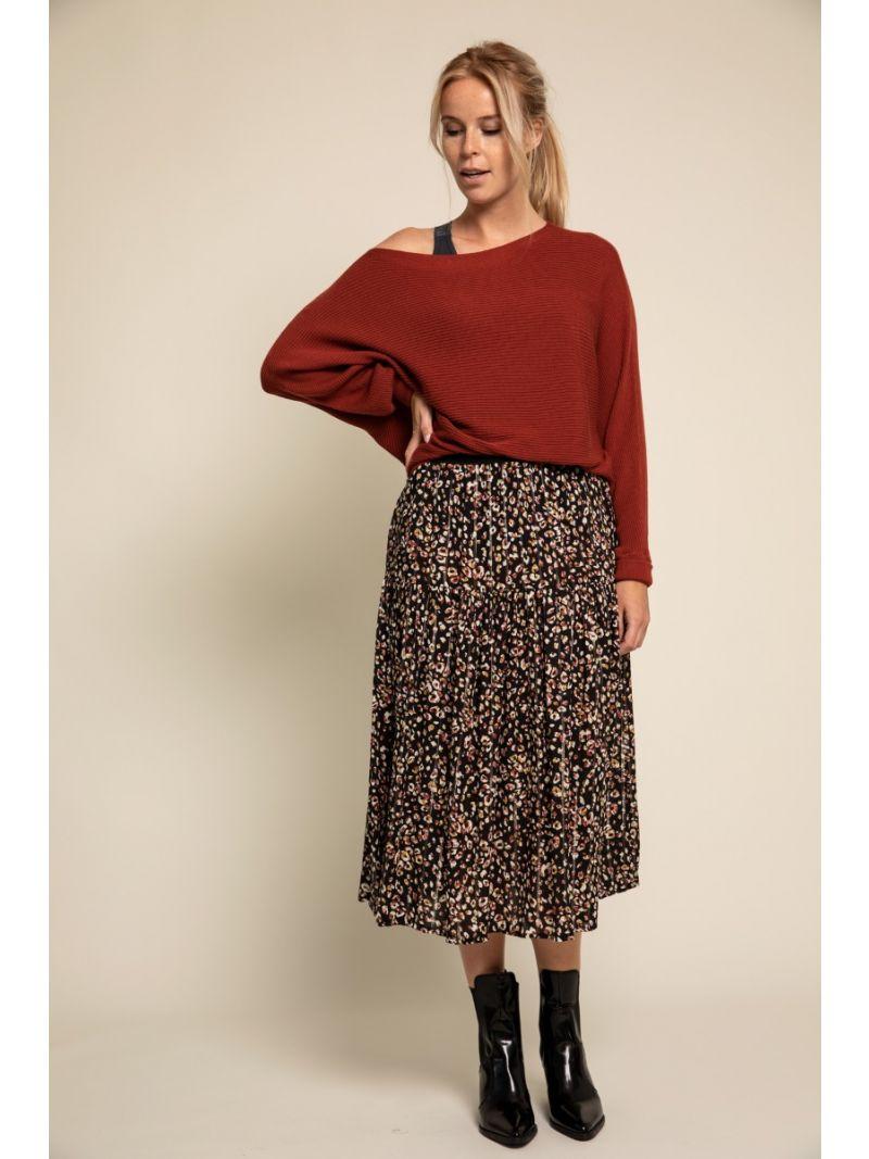 03406 Arabella Batwing Pullover Rust