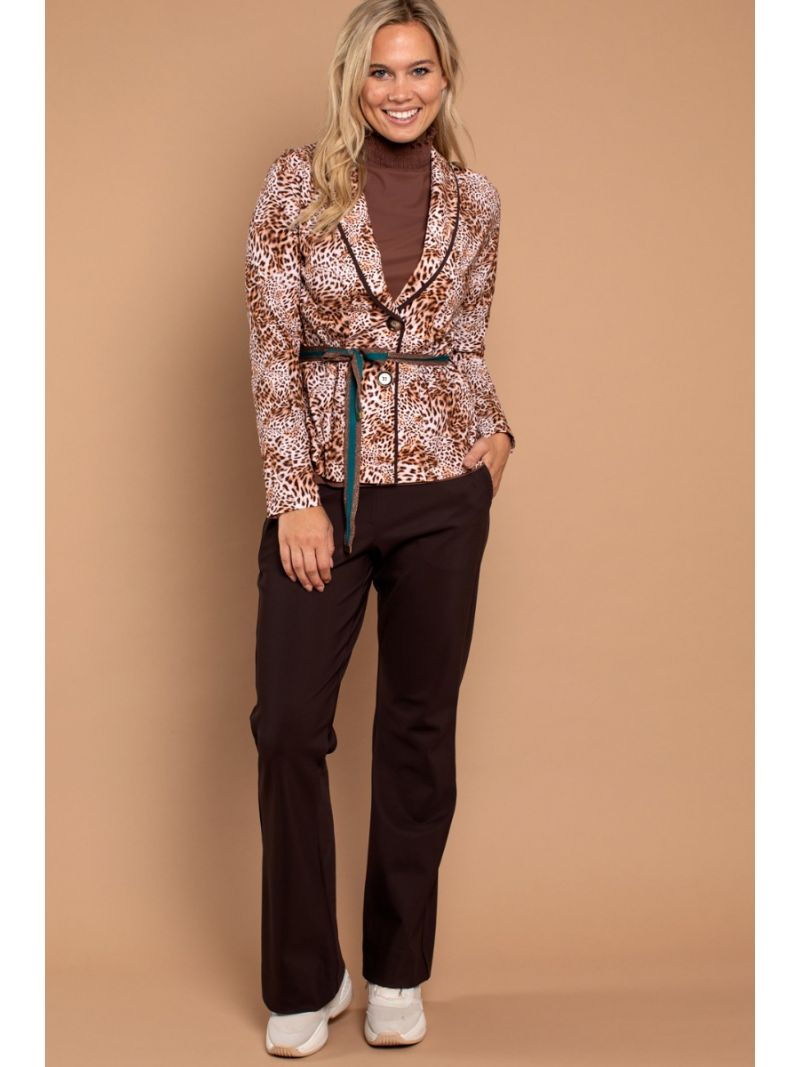 03570 Flair Bonded Trousers - Bruin