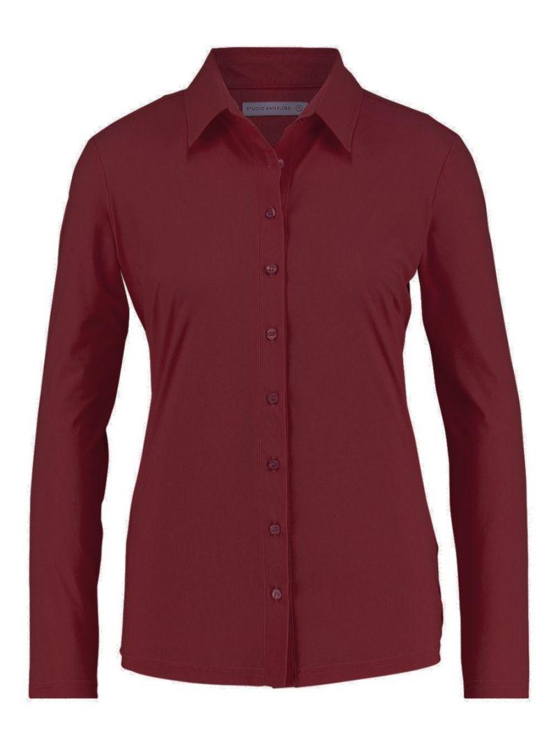 03613 Poppy Shirt - Bordeaux