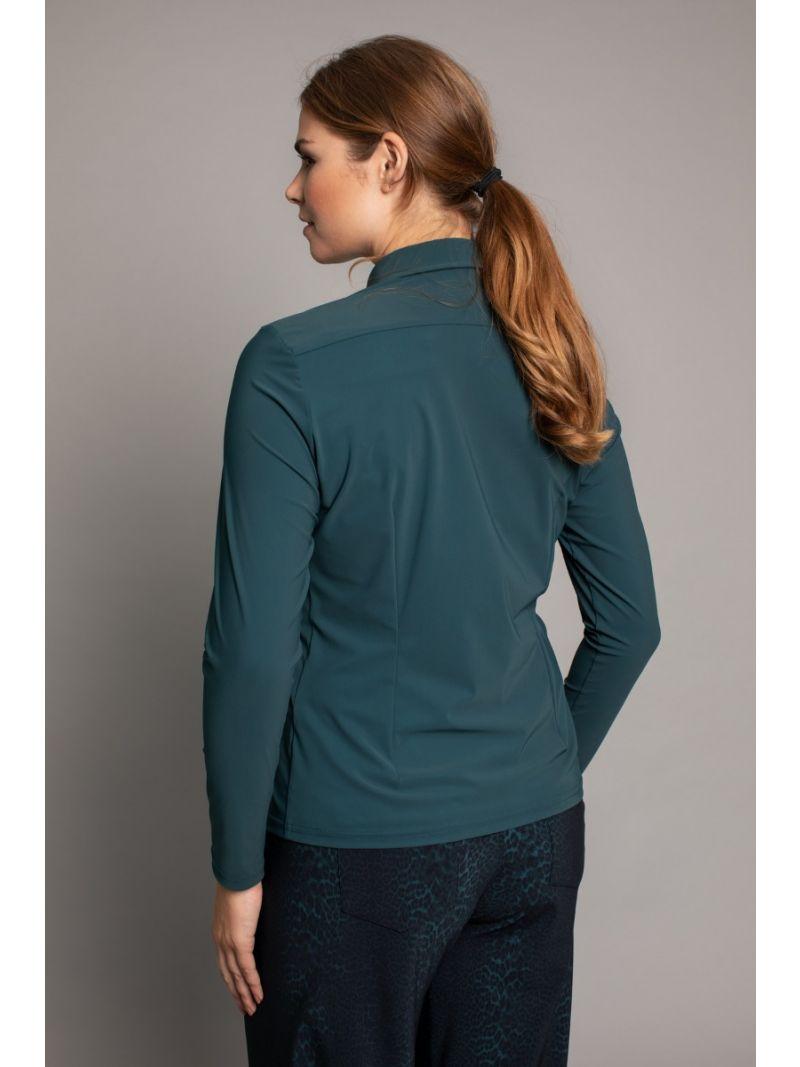 03613 Poppy Shirt - Deep Green