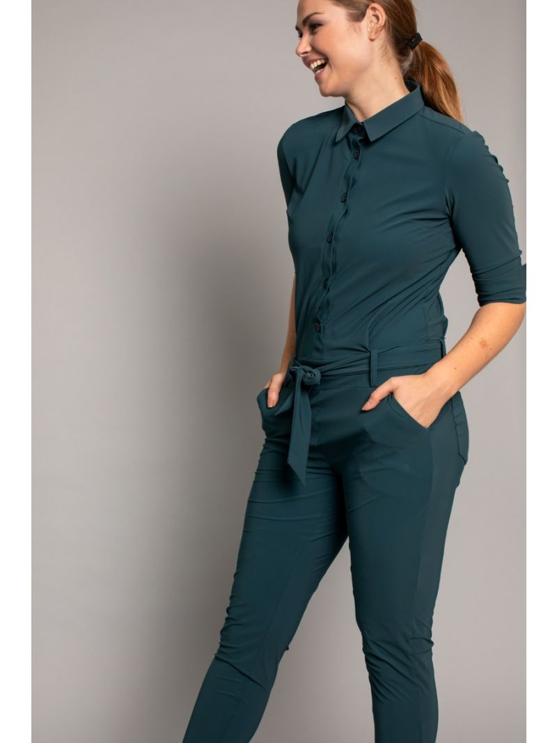 03616 Angelique Jumpsuit - Deep Green