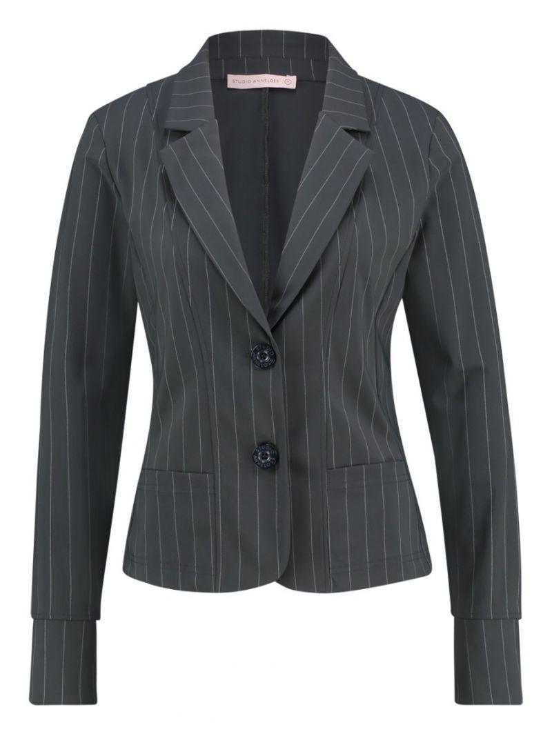 03656 Desk Stripe Blazer - Antraciet