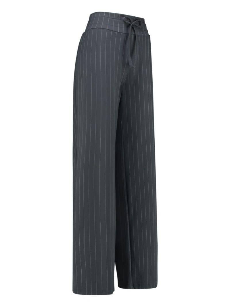 03657 Maria Stripe Trousers - Antraciet