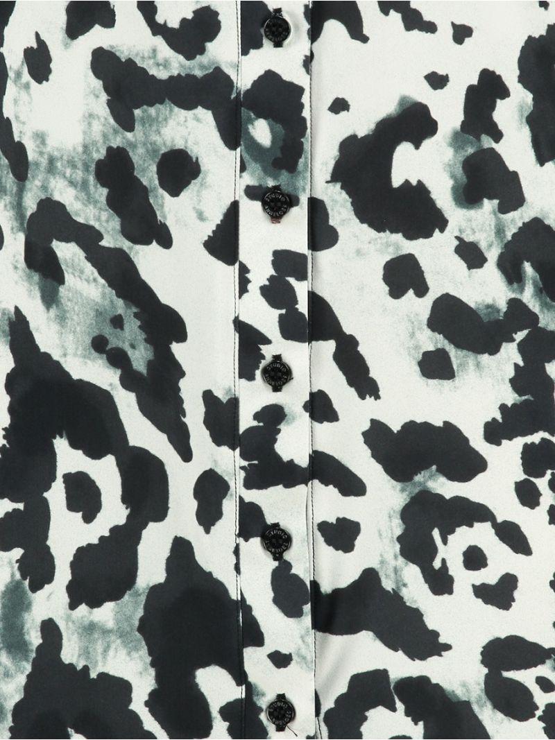 03664 Poppy Animal Blouse - Off White / Zwart