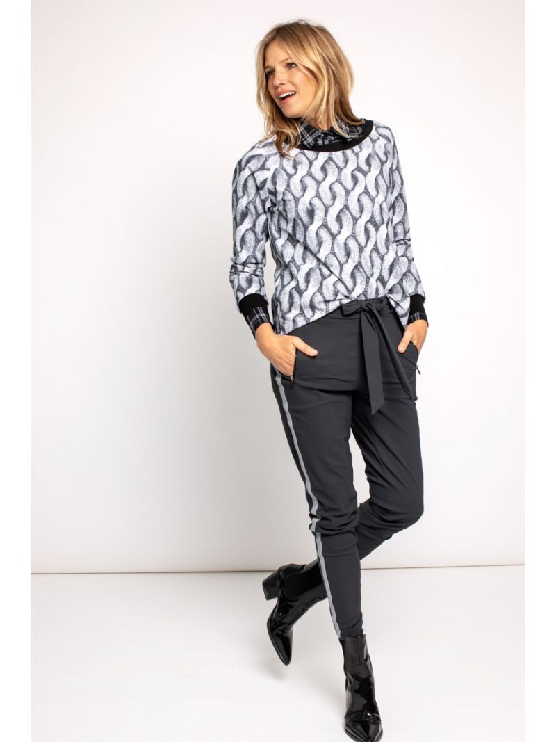 03681 Margot Tape Trousers - Antraciet