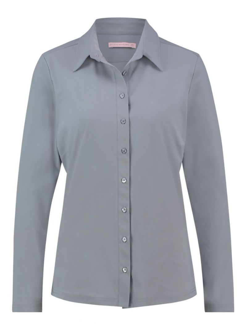 03682 Poppy Shirt - Grijs
