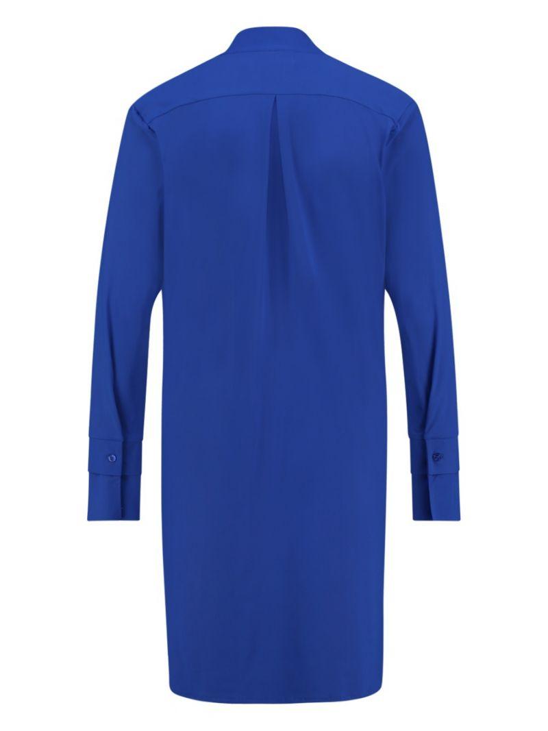 03683 Susan Long Blouse - Kobalt Blauw