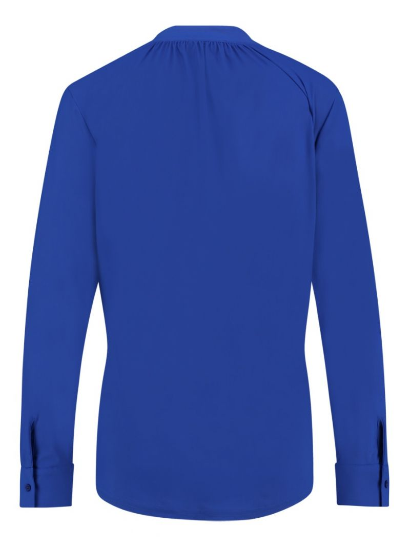03684 Zelinda Shirt - Kobalt Blauw