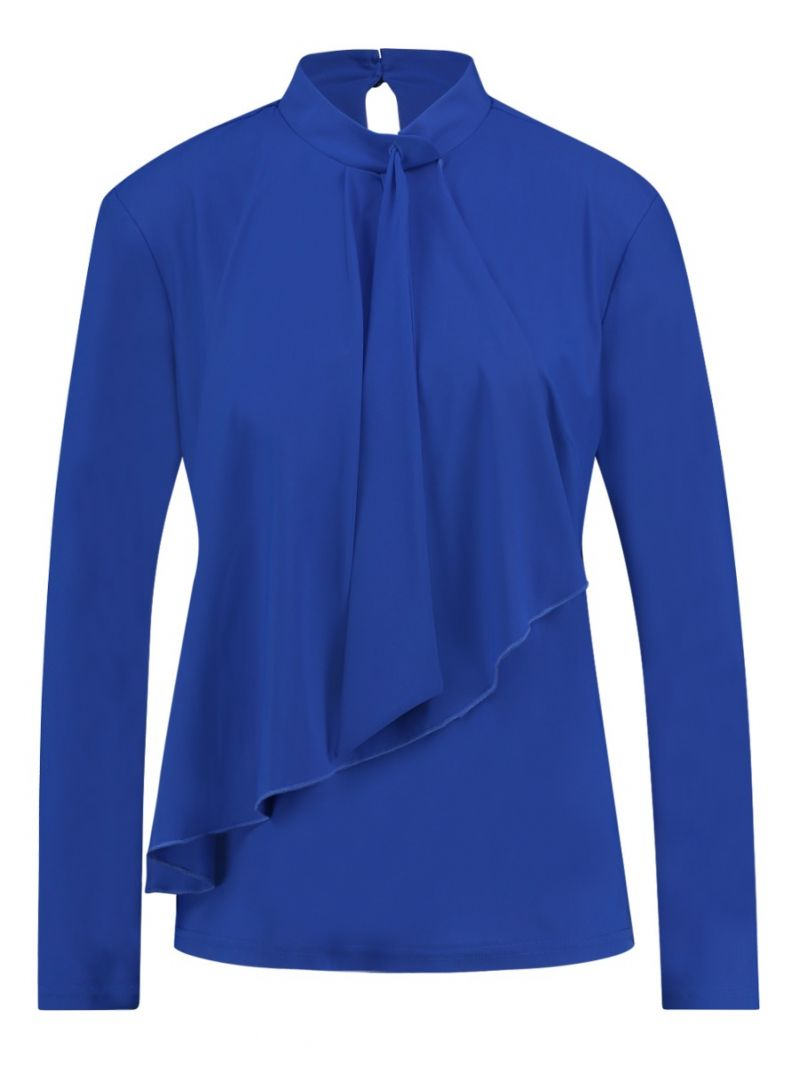 03685 Elke Blouse - Kobalt Blauw