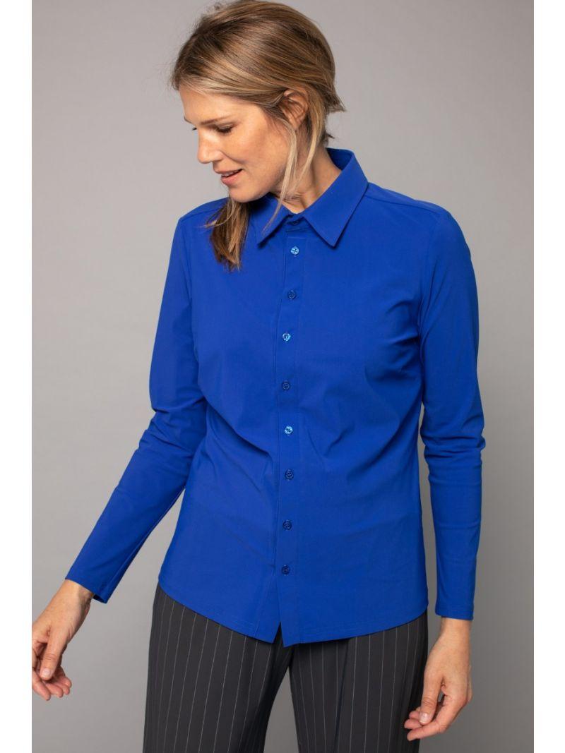 03687 Poppy Shirt - Kobalt Blauw