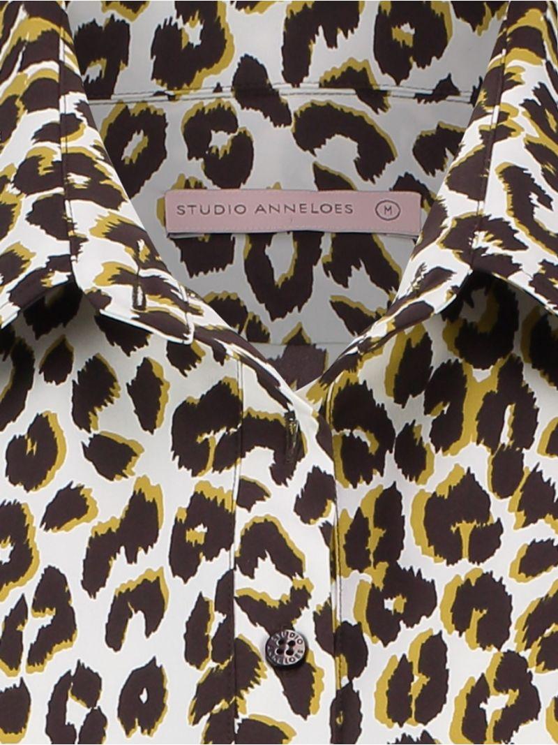 03819 Poppy Leo Shirt - Off White / Goud