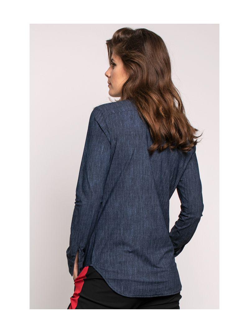 03882 Poppy Denimlook Travel Blouse - Jeans Blue