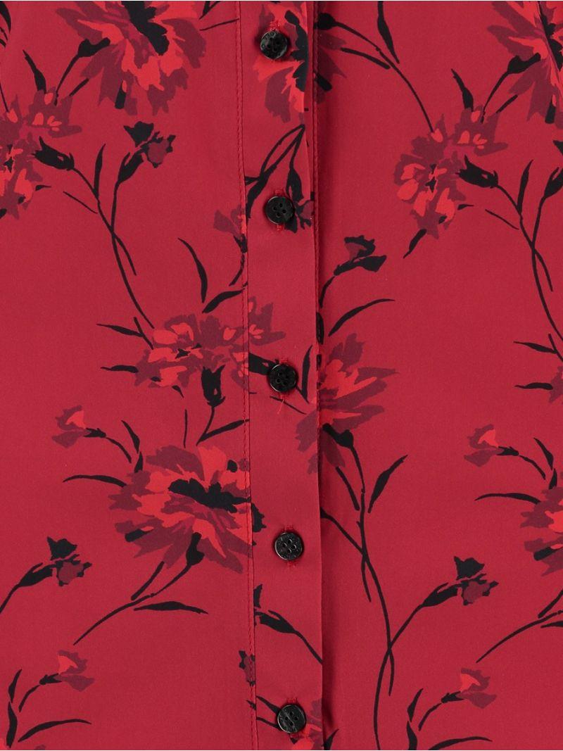 03896 Poppy Flower Travel Blouse - Red / Burgundy
