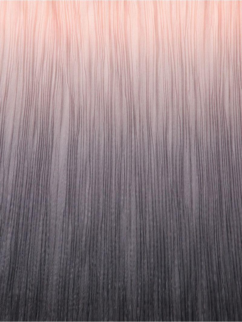 03942 Shawl Plisse - Black/Nude