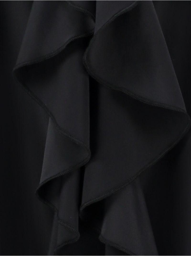 04001 Worcester Ruffle Blouse - Zwart