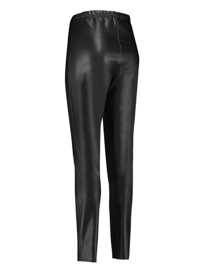 04026 Ally Leather Legging - Zwart