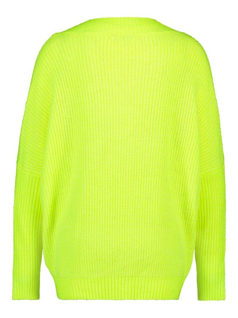 04042 Moos Pullover - Neon Geel
