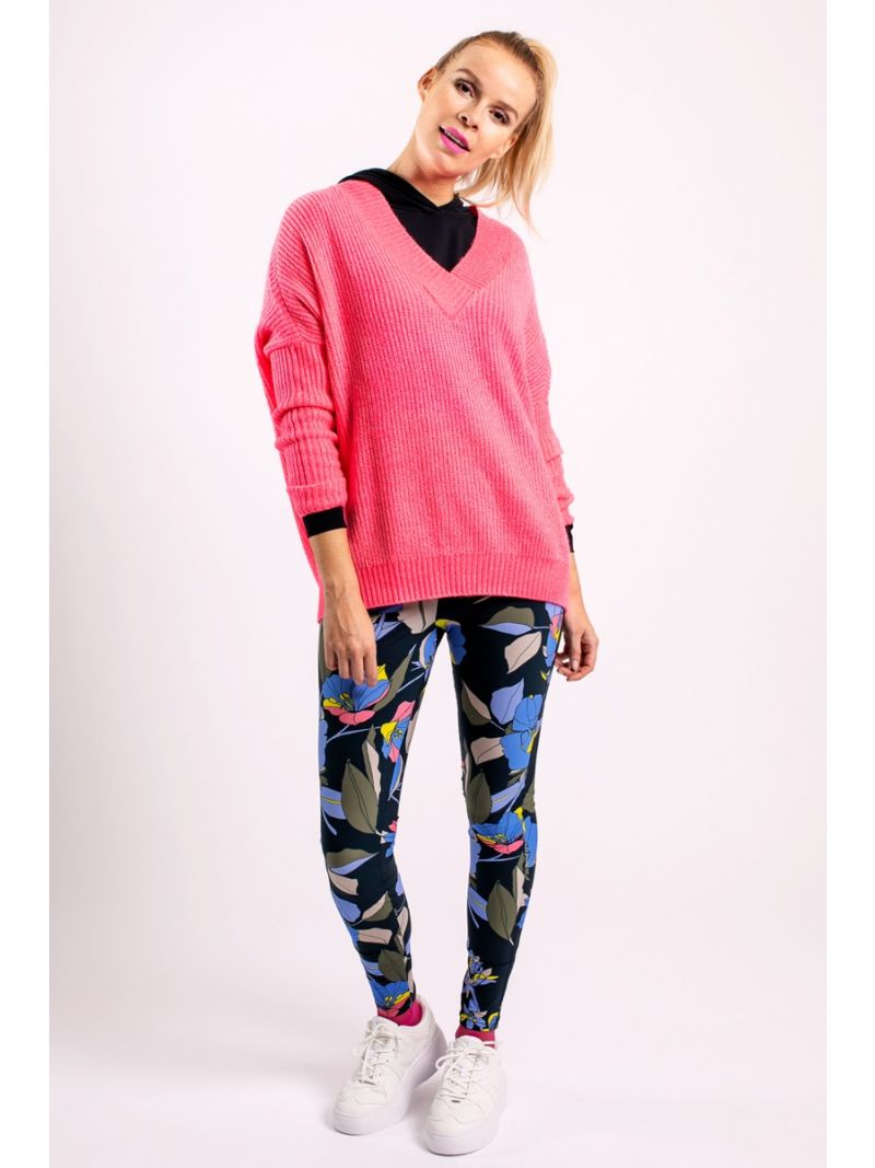 04042 Moos Pullover - Neon Roze