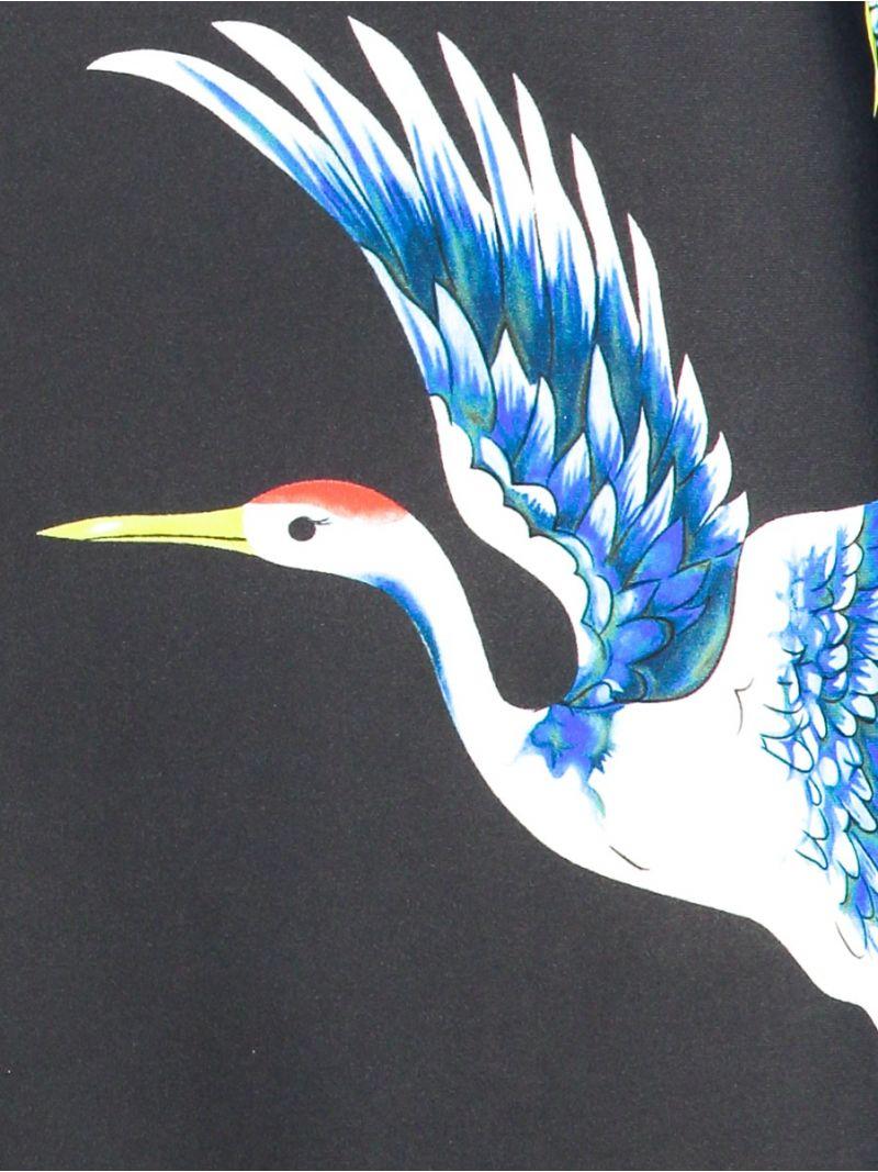 04054 Poppy Bird Blouse - Antraciet / Off White