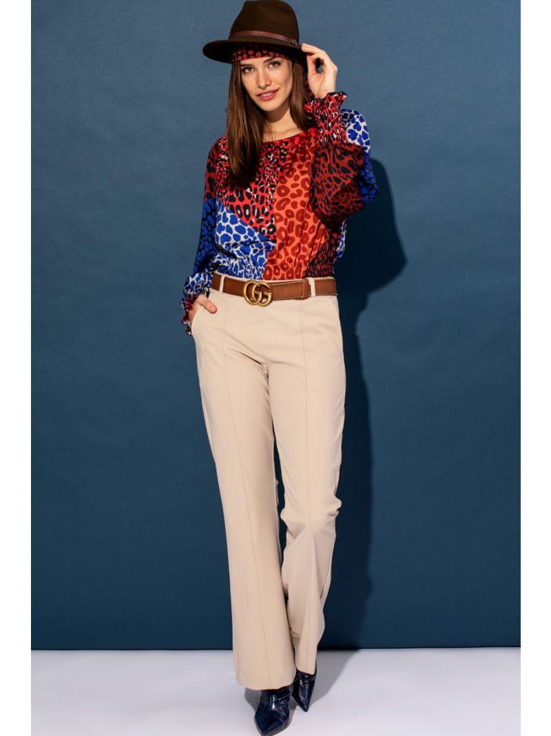 04060 Flair Bonded Stitch Trousers - Zand