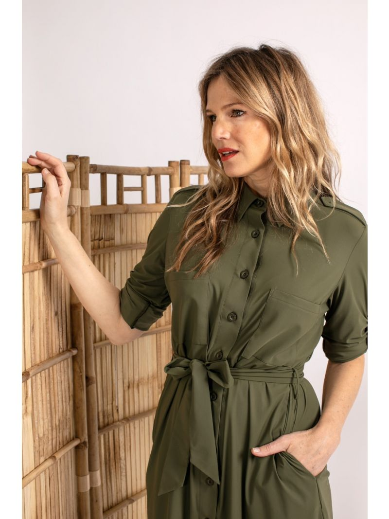 04071 Loopy Safari Travel Blouse - Army