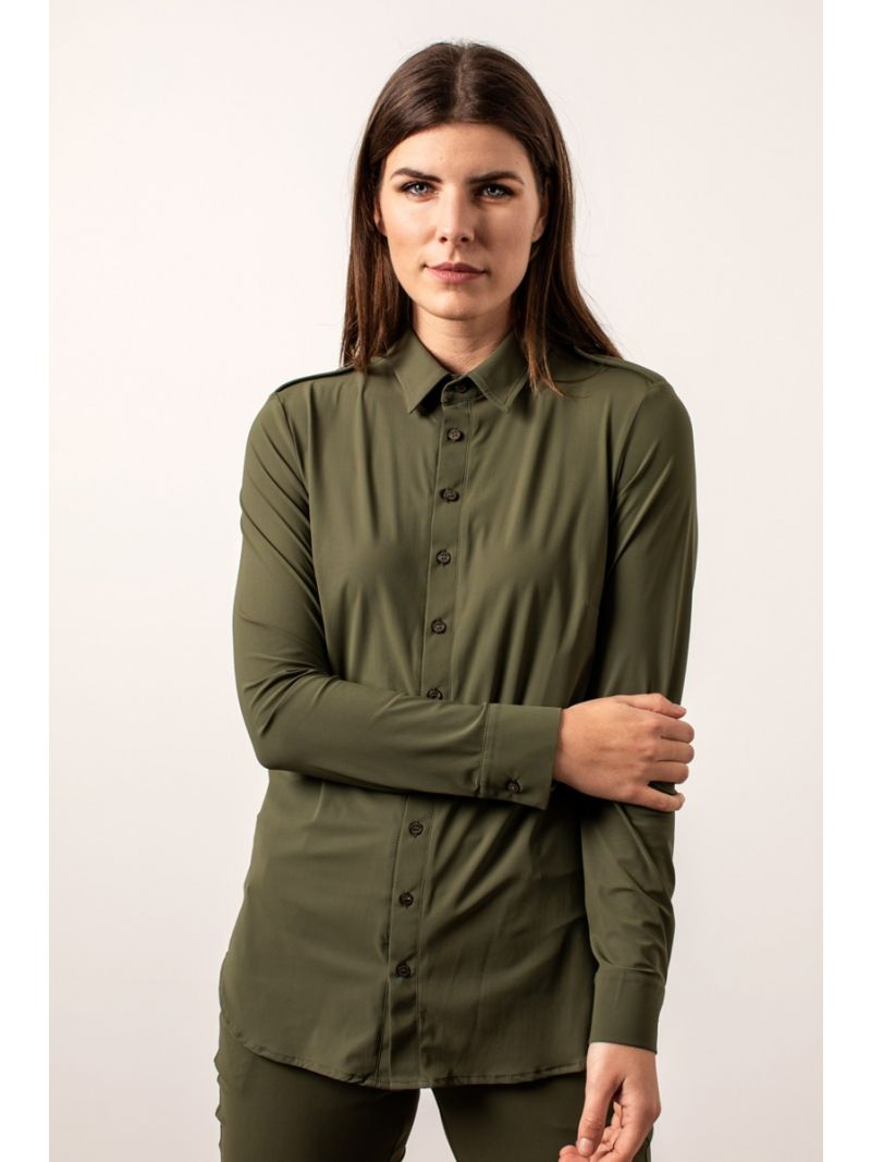04077 Poppy Safari Travel Blouse - Army