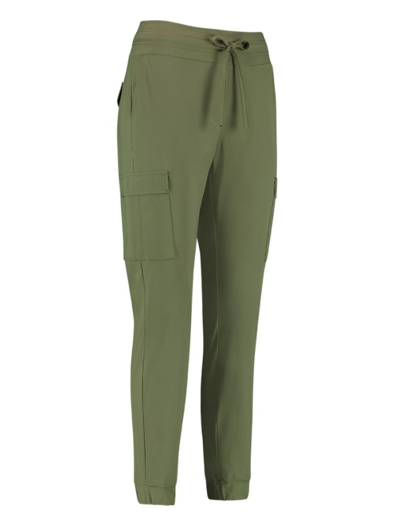 04111 Loose Fit Cargo Travel Trousers - Army