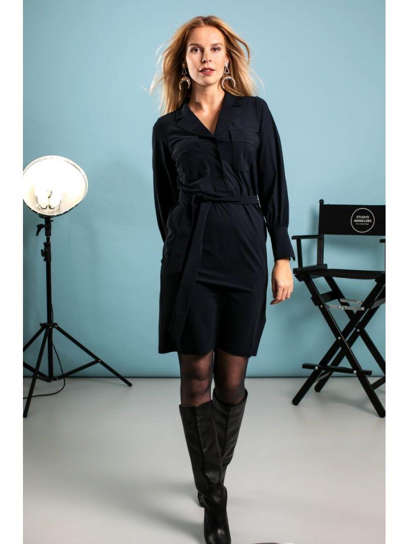 04122 Roxy Cargo Travel Dress - Donker Blauw