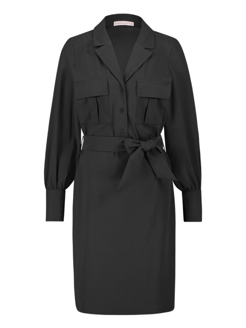04122 Roxy Cargo Travel Dress - Zwart