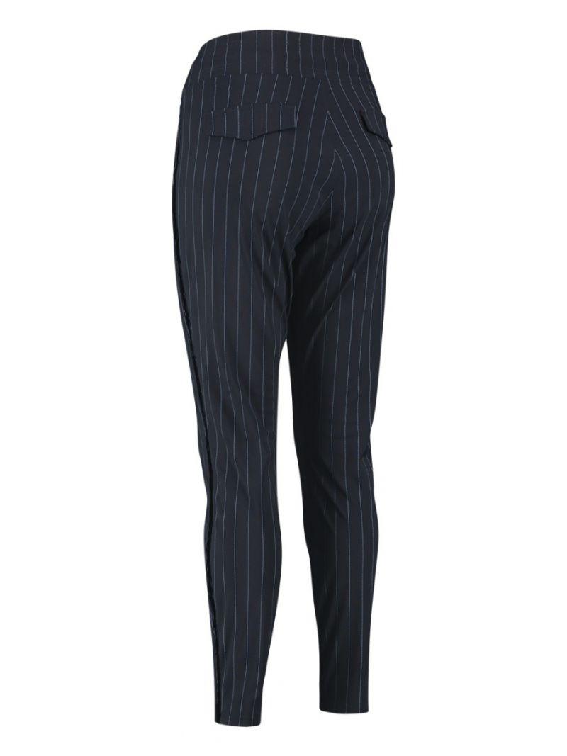 04149 Road Pinstripe Trousers - Donker Blauw