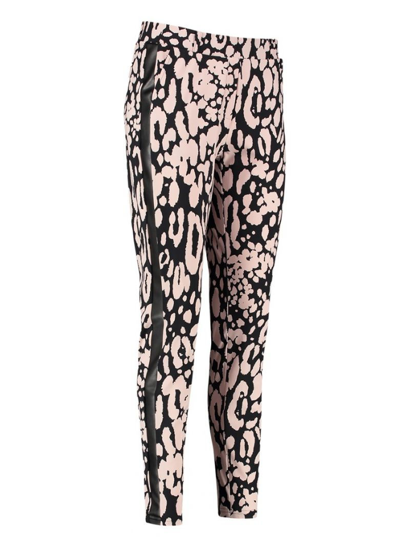 04160 Toma Animal Trousers - Black / Oyster