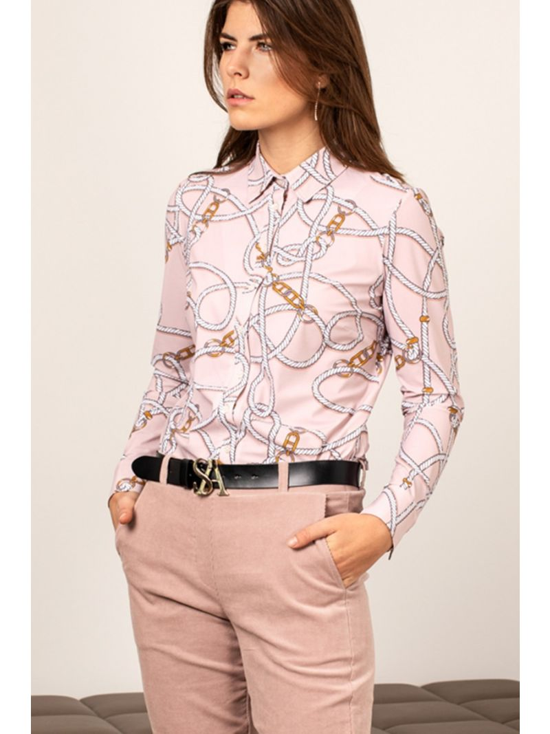 04164 Poppy Chain Travel Blouse - Poederroze