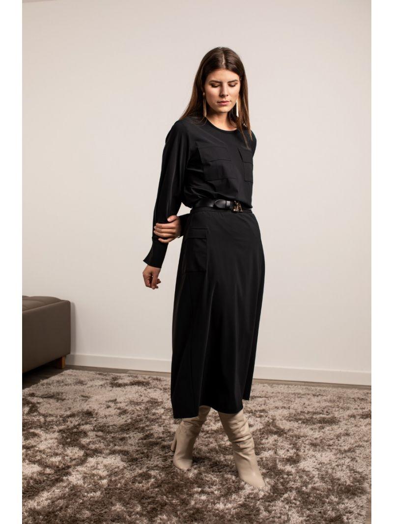04187 Cargo Fancy Skirt - Zwart