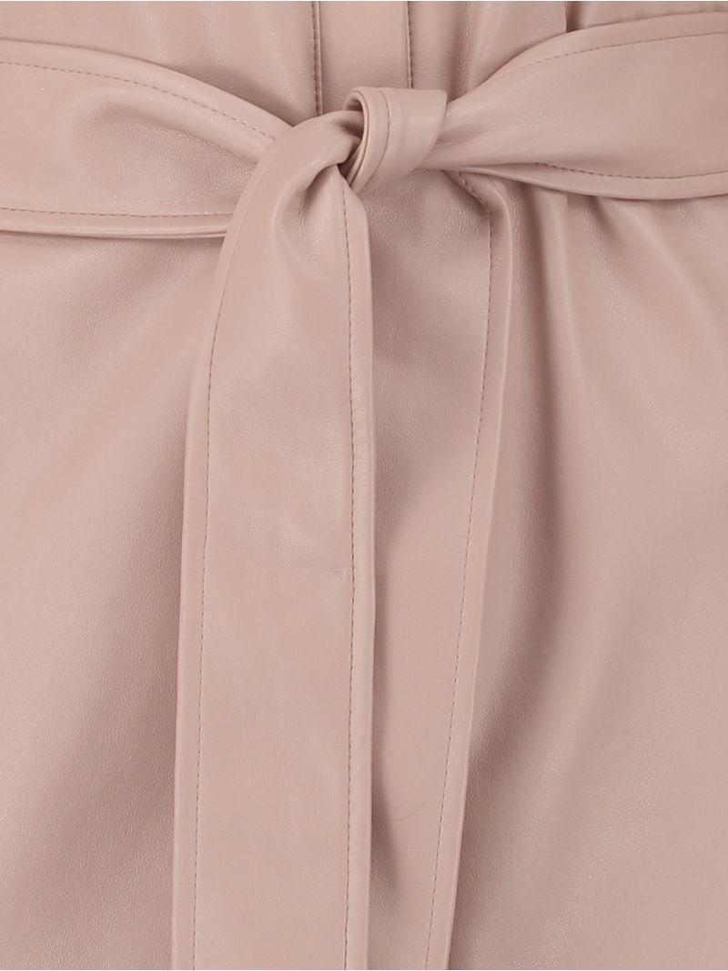 04199 Loopy Leather Dress - Poederroze