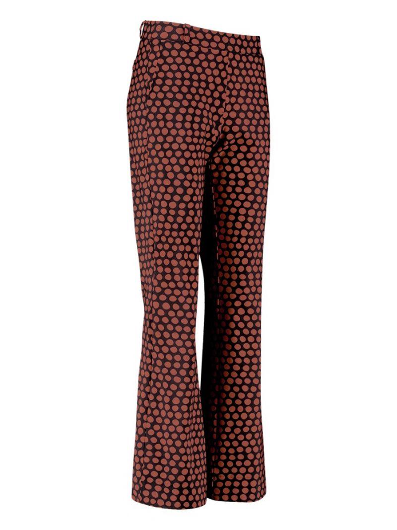 04233 Flair Dot Trousers - Donker Blauw / Terra