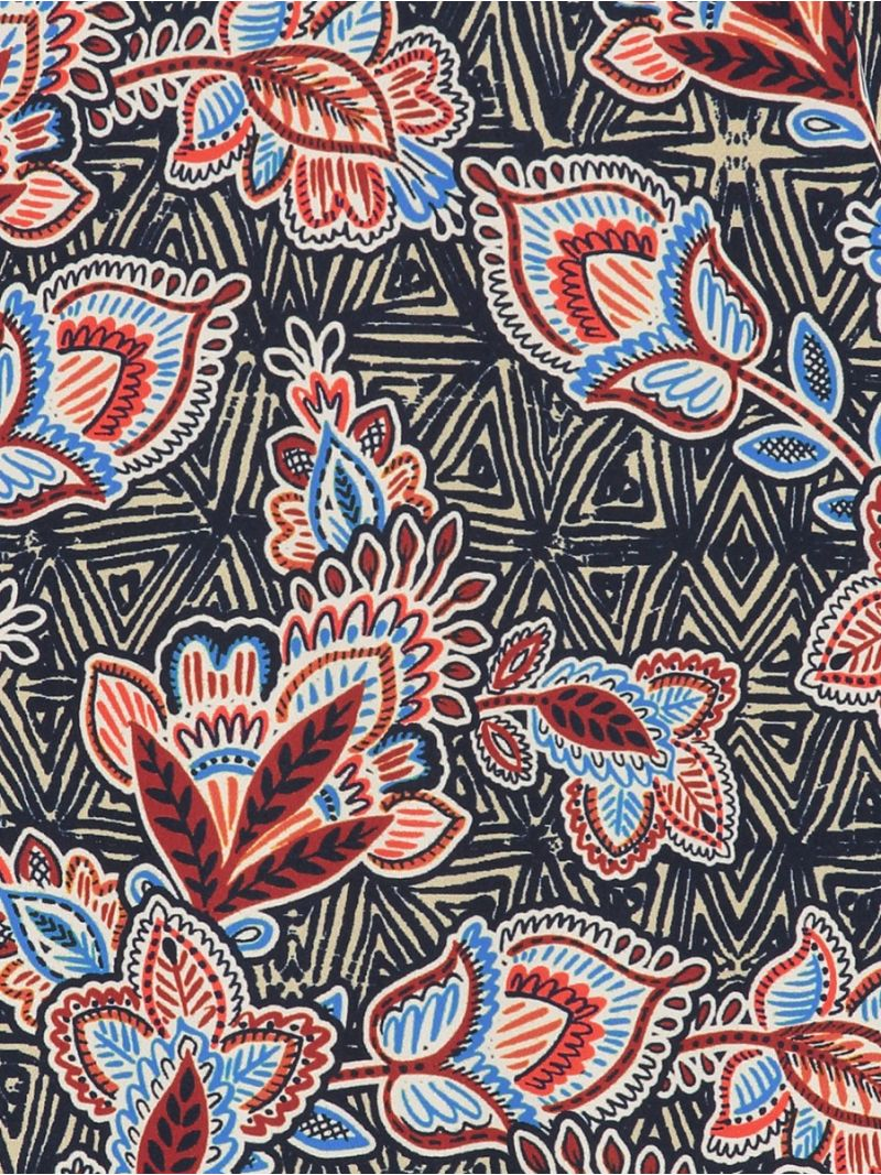 04245 Poppy Aztec Blouse - Donker Blauw/Terra