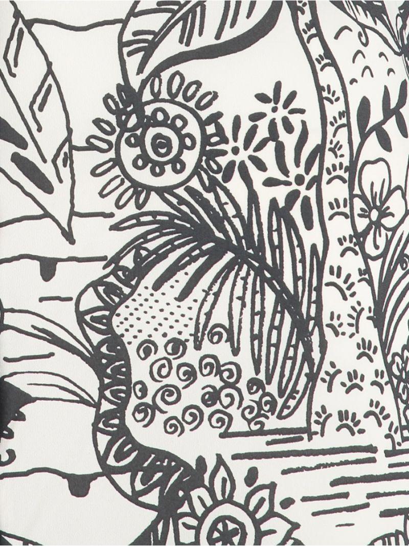 04298 Poppy Jungle Blouse - Ecru/Antraciet