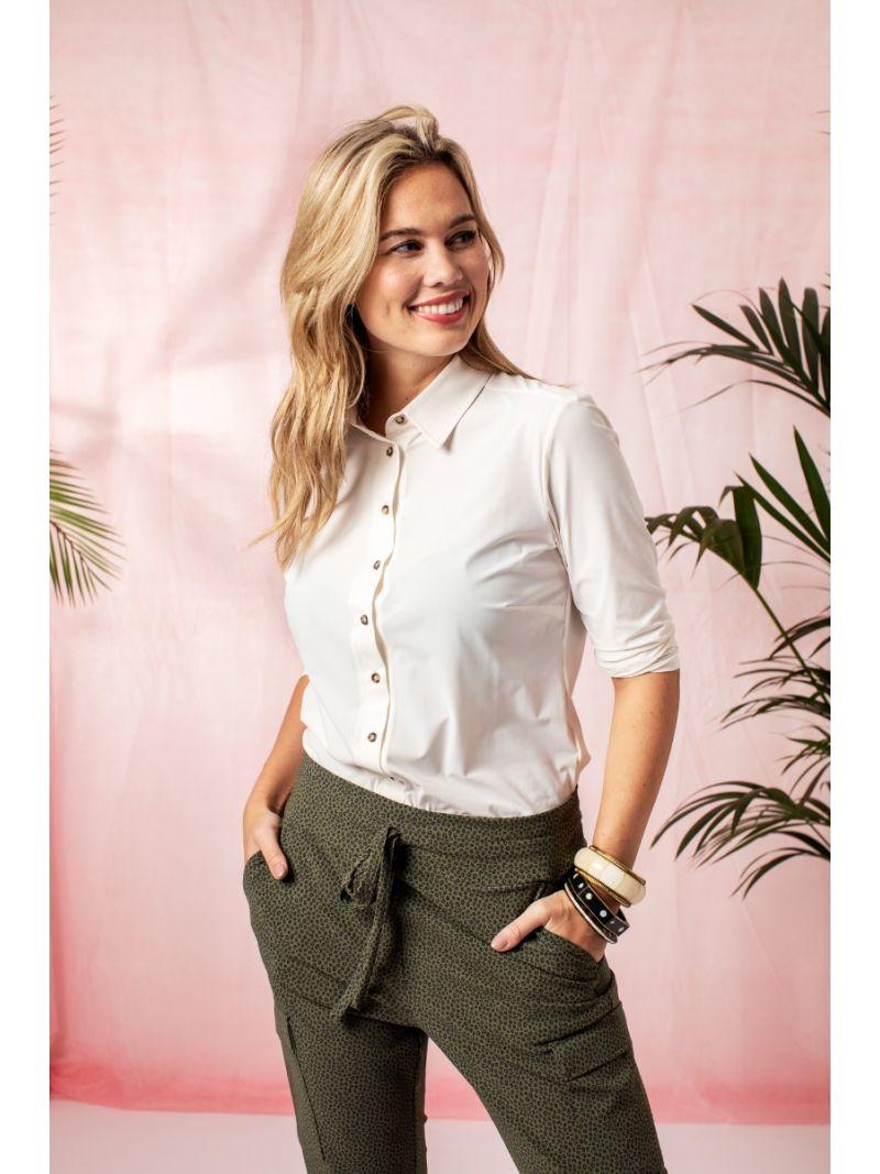 04325 Poppy blouse 3/4 Sleeve - Ecru