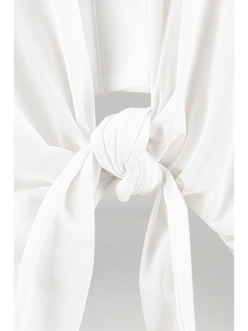 04826 Poppy Knot SL Blouse - Wit