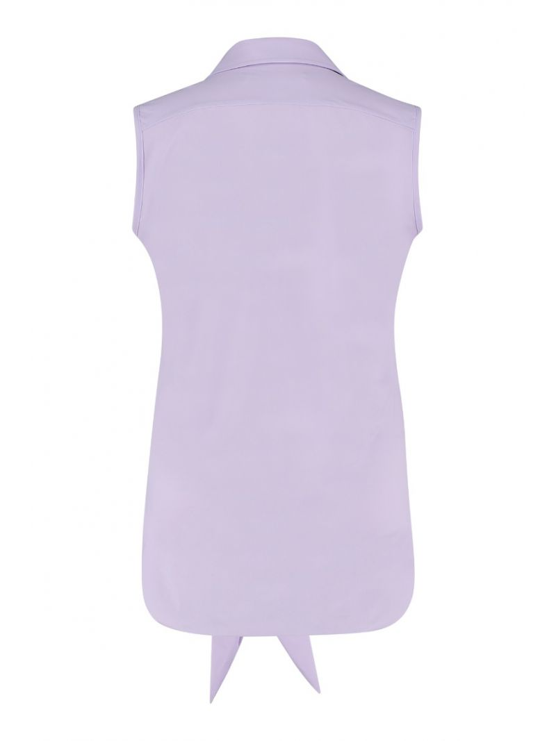 04826 Poppy Knot SL Blouse - Paars