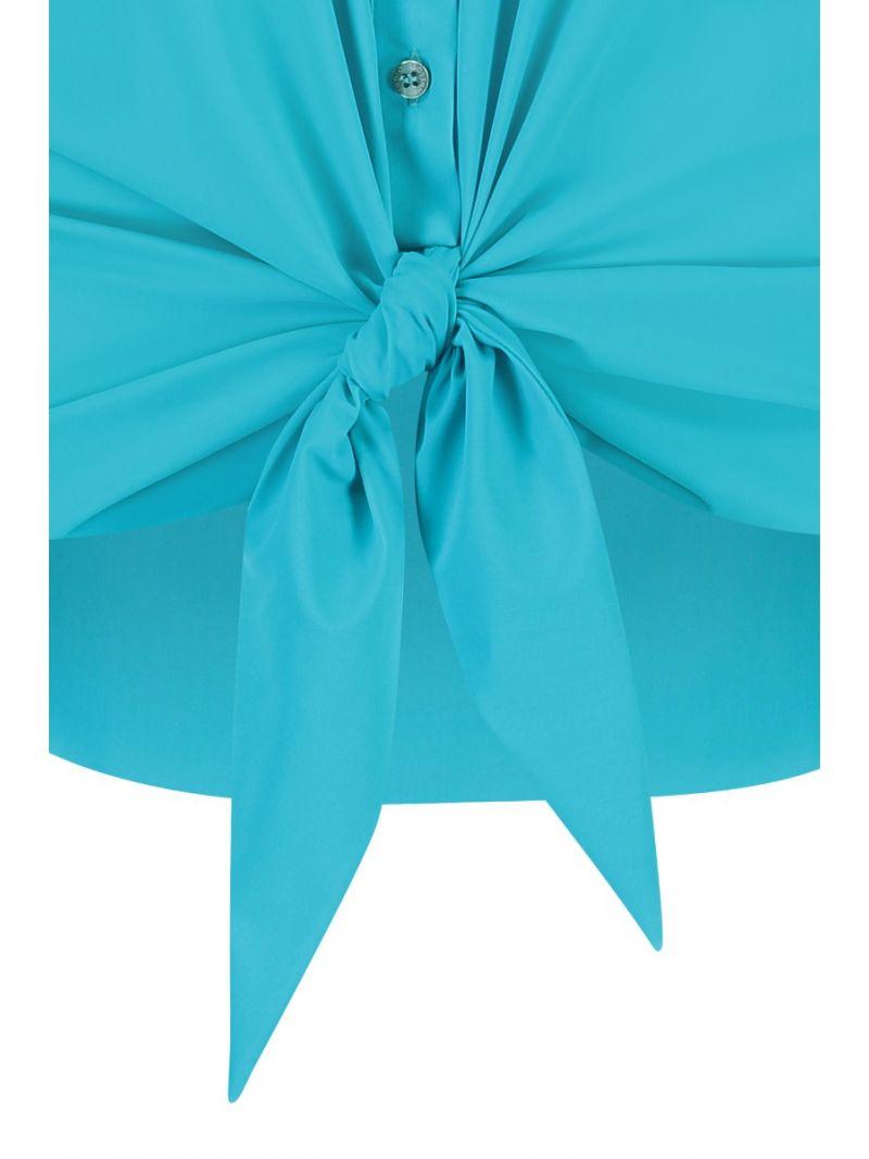 04826 Poppy Knot SL Blouse - Turquoise