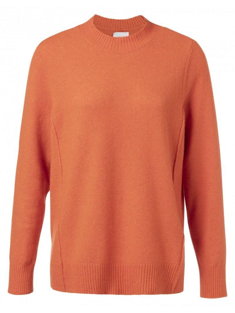 Pullover met Seamlines - Oranje