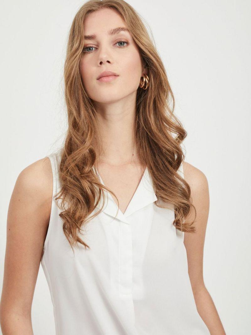 Vilucy Mouwloze Blouse - Wit