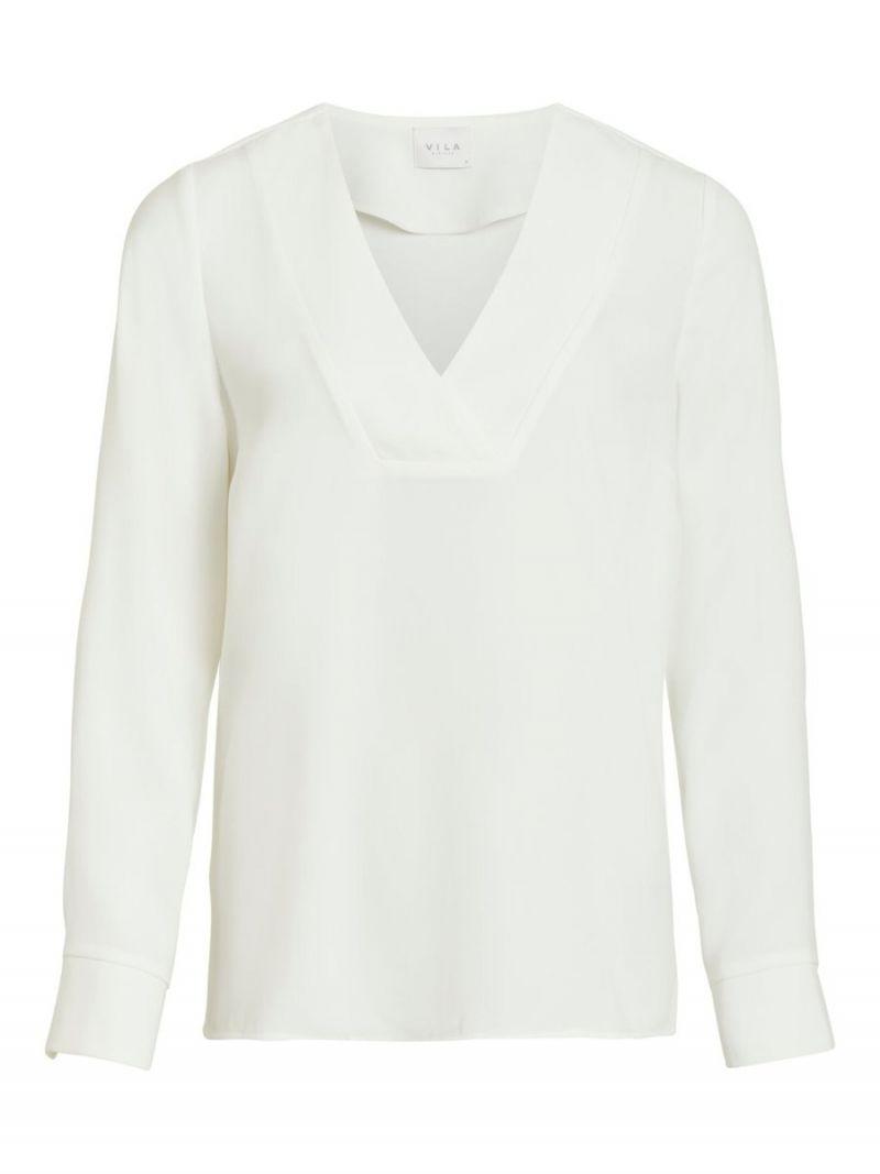 V-Hals Blouse - Off White